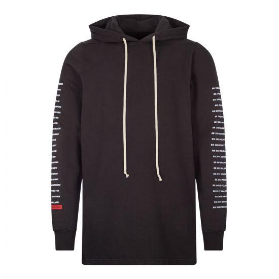 rick owens drkshdw hoodie DU20F185 RIGEP4 09110 black