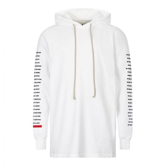 rick owens drkshdw hoodie DU20F185 RIGEP4 11009 chalk white