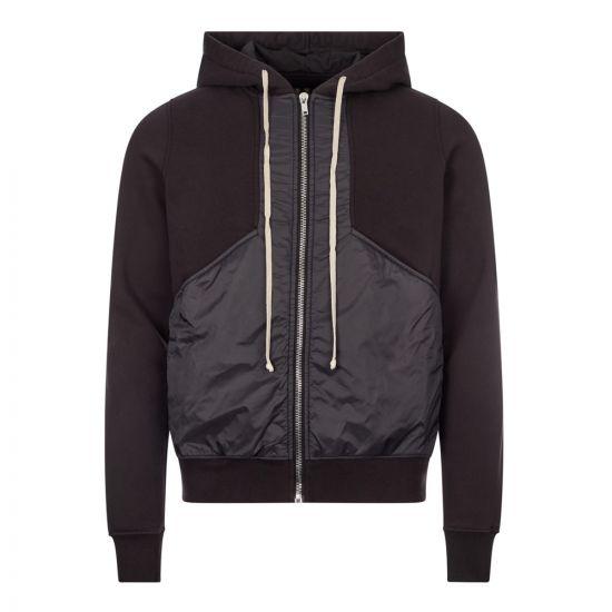 rick owens drkshdw hoodie panel DU20F 1279 FND 09 black