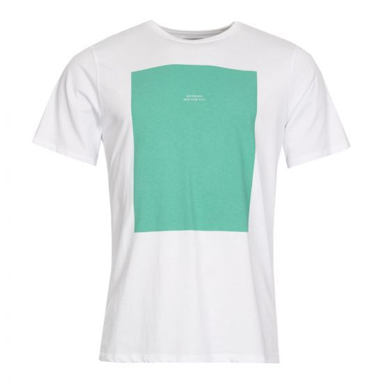 Saturdays NYC Rectangle M41829 PT06 S9900 White/Seafoam Green