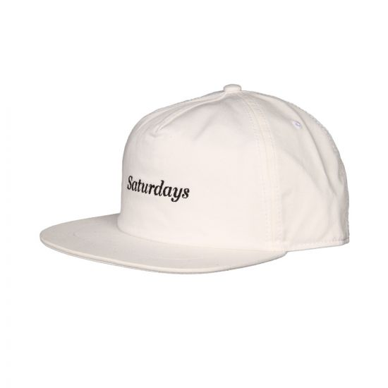 Saturdays NYC Stanley Italics Cap M21809 ST01 S9900 White