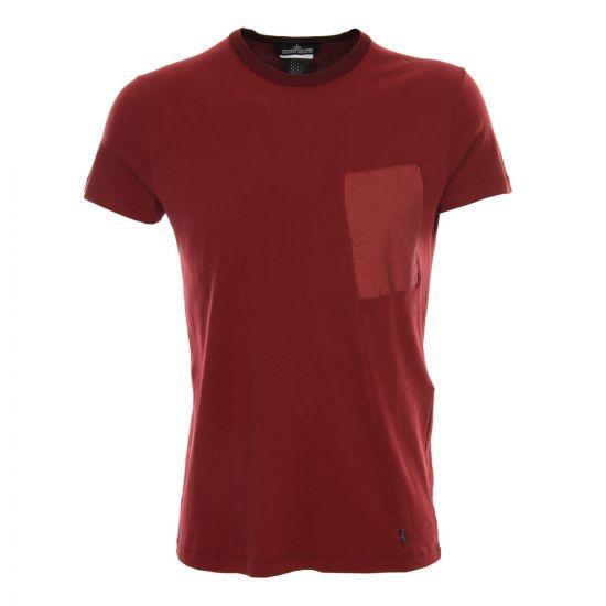Stone Island Shadow Project T Shirt in Burgundy