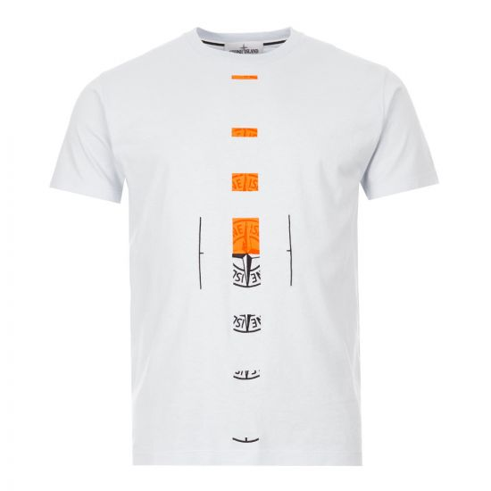 Stone Island T-Shirt Offset | Light Blue 72152NS90 V0041 | Aphrodite
