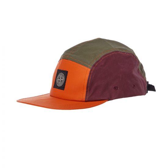 Stone Island Cap | 711599077 V0058 Olive / Orange / Burgundy