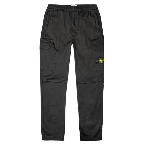 Stone Island Cargo Trousers 711531914|V0029 In Black At Aphrodite Clothing