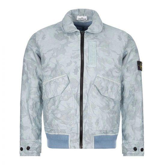 Stone Island Big Loom Camo Jacket | 7215445E1 V0041 Sky Blue