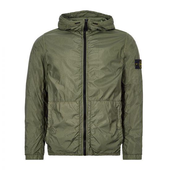Stone Island Crinkle Reps NY Jacket – Green 21703CP -1