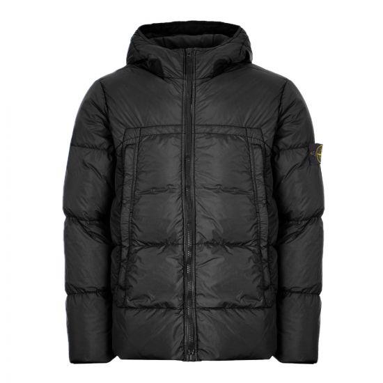 Stone Island Crinkle Reps Down Jacket | 731540723 V0029 Black