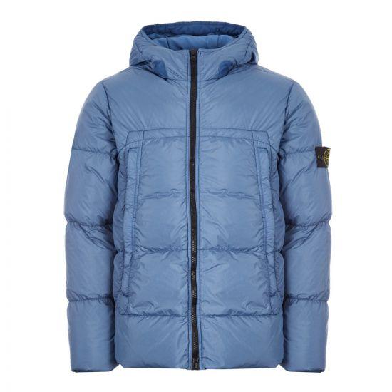 Stone Island Crinkle Reps Down Jacket | 731540723 V0043 Blue
