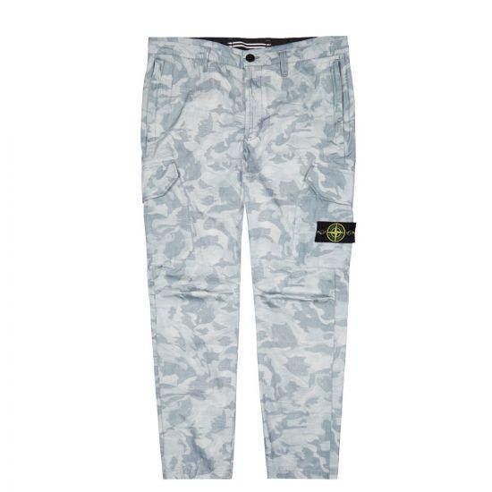stone island trousers big loom camo 7215323ED V0041 sky blue
