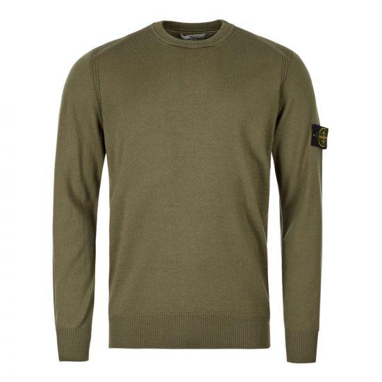 stone island wool jumper 7115524C4 V0058 green