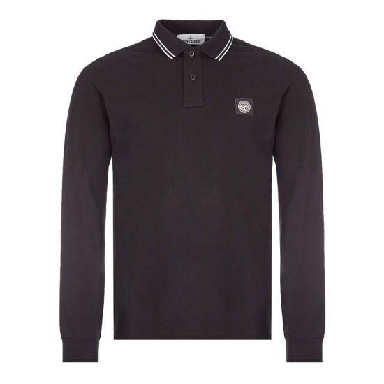 Stone Island Long Sleeve Polo Black 73152SS18 V0029