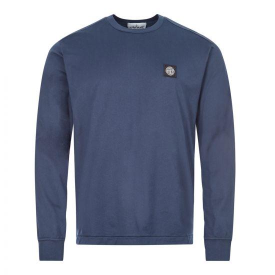 stone island long sleeve t-shirt 721522713 V0028 marine blue