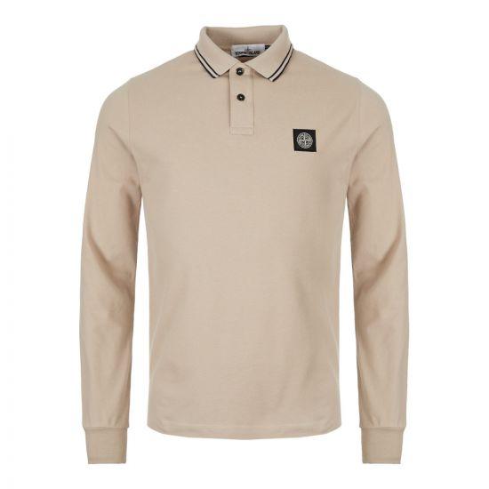 Stone Island Long Sleeve Polo Shirt 71152SS18 V1095 Beige