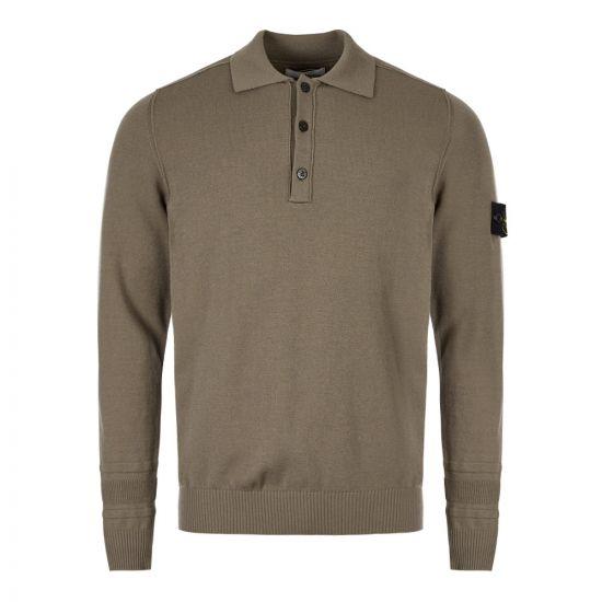 Stone Island Long Sleeve Polo Shirt   7115589A1 V0068 Green