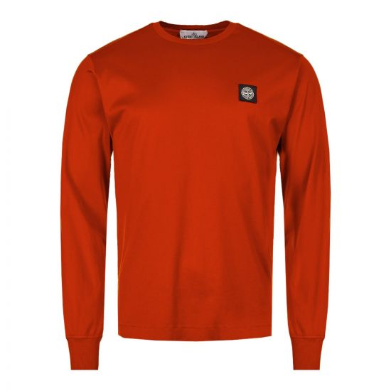 Stone Island Long Sleeve T-Shirt 7015 22713 V0015 in Red