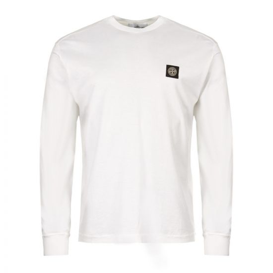 Stone Island Long Sleeve T-Shirt 7015 22713 V0001 in White