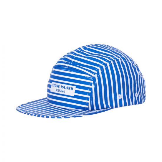 stone island cap marina 7015993XC V0043 blue stripe