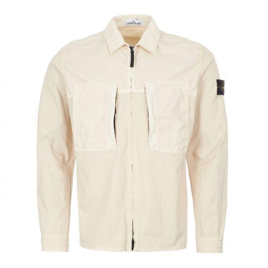 stone island overshirt 721510207 V0090 cream