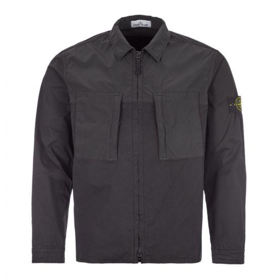 stone island overshirt 721510207 V0029 black