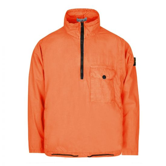 stone island half-zip overshirt 7215113WN V0137 red orange