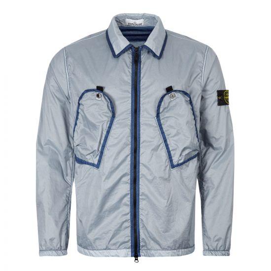 Stone Island Overshirt   711511435 V0024 Blue