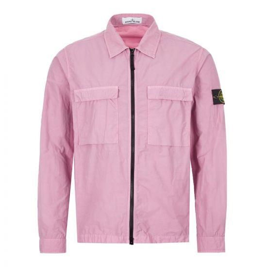 Stone Island Overshirt | 721511102 V0086 Light Purple