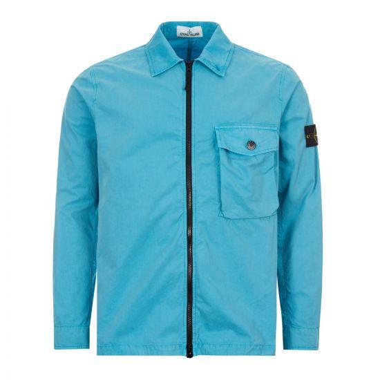 Stone Island Overshirt   7215114WN V0142 Turquoise