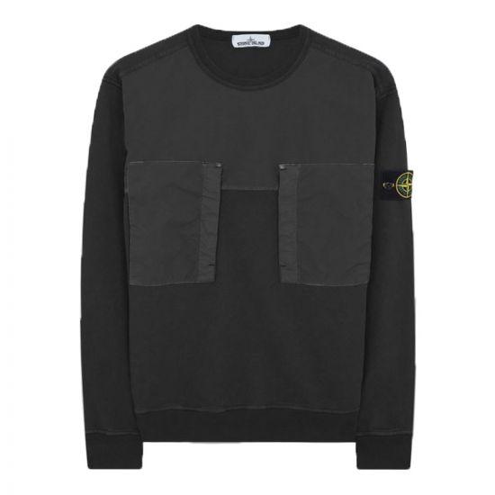 stone island sweatshirt pocket 721561953 V0029 black