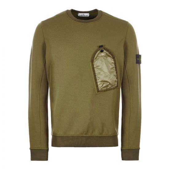 Stone Island Sweatshirt Pocket | Olive 711564046 V0058