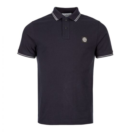 Stone Island Polo Shirt Twin Tipped 711522S18|V0020 In Navy