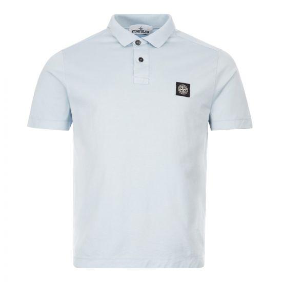 Stone Island Logo Polo Shirt | Blue 721522613 V0041 | Aphrodite