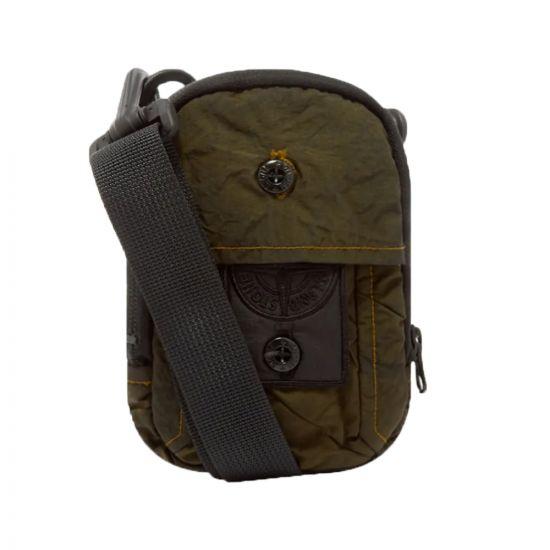 stone island shadow project bum bag compact treatment nylon 721990420 V0054 dark green
