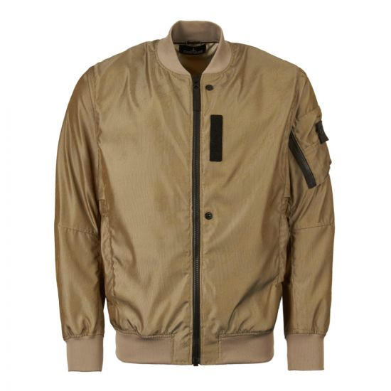 Stone Island Shadow Project Jacket Bomber Lenticular Jacquard 701940204 V0054 Brown