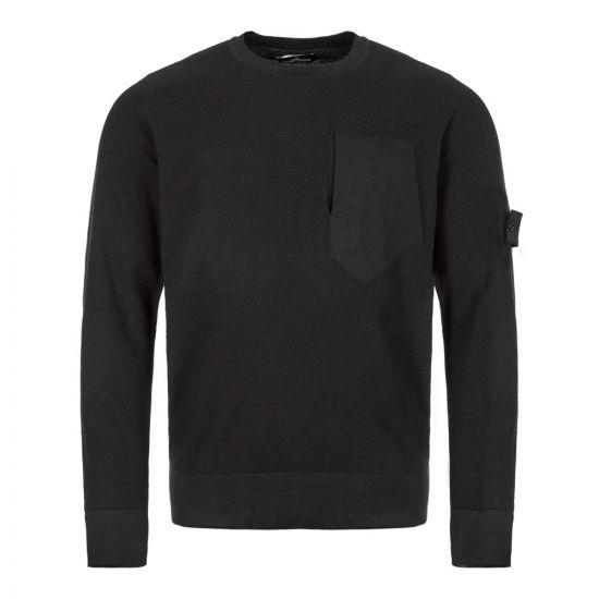 stone island shadow project knitted sweatshirt 7119507A2 V0029 black