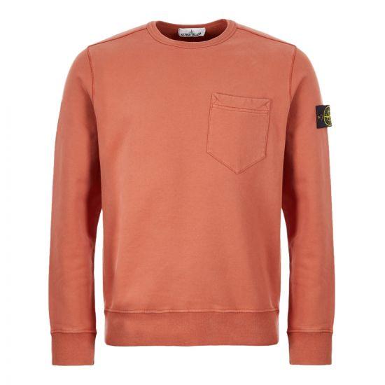 Stone Island Sweatshirt Pocket   711563820 V0013  Rust