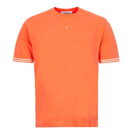 stone island t-shirt 721521358 V0037 bright orange