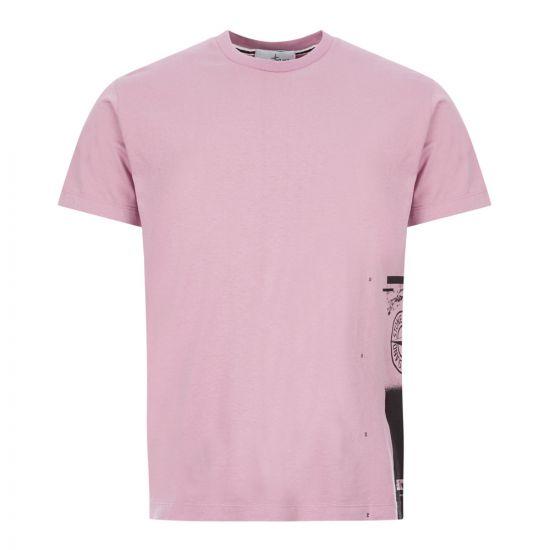 Stone Island T-Shirt Drone One | 72152NS83 V0086 Pink