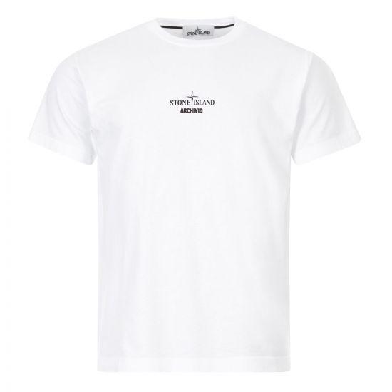 stone island t-shirt archivio white