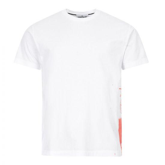 Stone Island T-Shirt Drone One | 72152NS83 V0001 White
