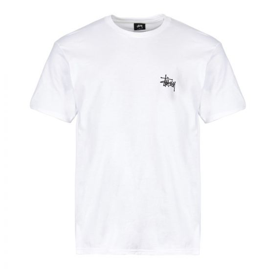 stussy t shirt basic 1904298 WHT white
