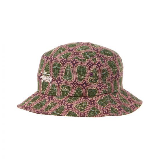 Stussy Bucket Hat   132925 PINK / GREEN