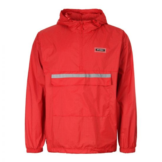 Stussy Contrast Ripstop Anorak 115403 RED In Red