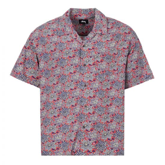 Stussy Short Sleeve Shirt | 1110109 Floral / Red