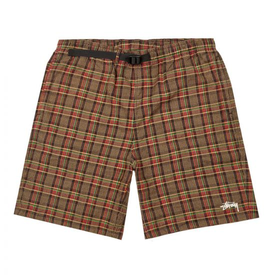 stussy mountain shorts 112252 plaid