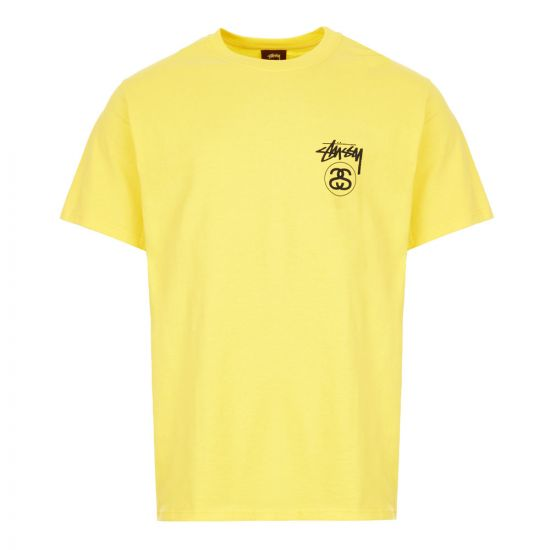 stussy t-shirt stock line | 1904515 YELLOW yellow