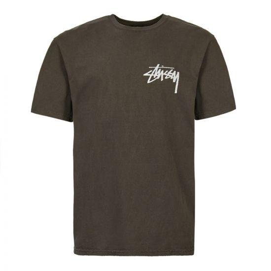 Stussy T-Shirt | Pigment Dyed 1904360 BLK Black | Aphrodite1994