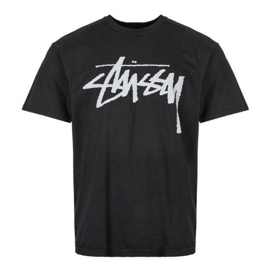 stussy stock t-shirt 1904442 BLACK black