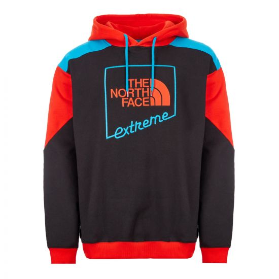 North Face Extreme Hoodie - Red / Black / Blue 21393CP -1