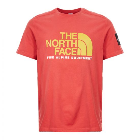 North Face T-Shirt - Red 21394CP -1